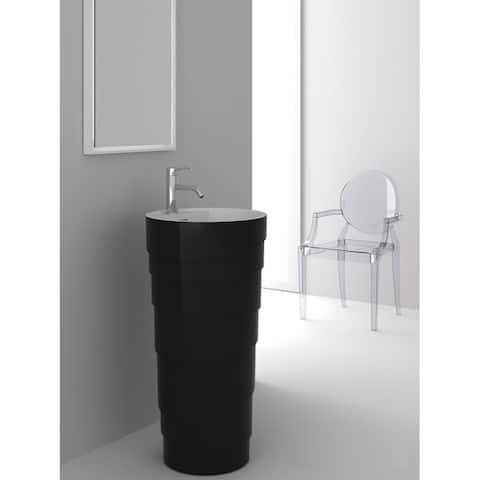 Fine Fixtures Rockview Black Pedestal Sink