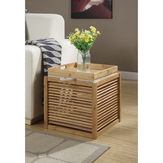 Convenience Concepts Designs4Comfort Bamboo Ottoman