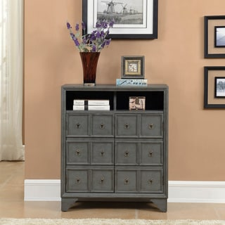 Somette Grey Vintage 2-Door Media Center