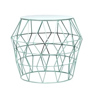 Aqua Metal Drum Stool
