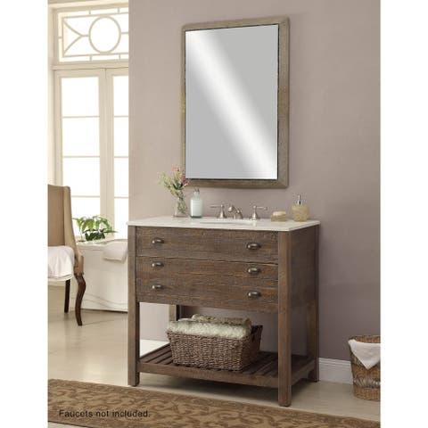 Somette Distressed Brown 36 inch 1-Drawer Undermount Sink Vanity