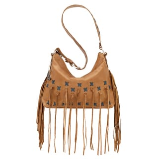 American West River Ranch Collection Blue Accent Shoulder Bag