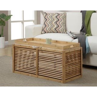 Convenience Concepts Designs4Comfort Double Bamboo Ottoman