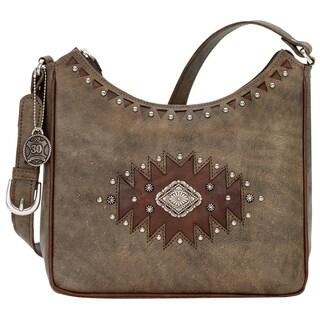 American West Annies Secret Concealed Carry Charcoal Brown Shoulder Bag