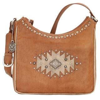 American West Annies Secret Concealed Carry Tan Shoulder Bag