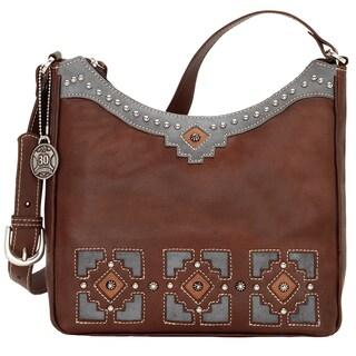 American West Annies Secret Concealed Carry Brown Shoulder Bag