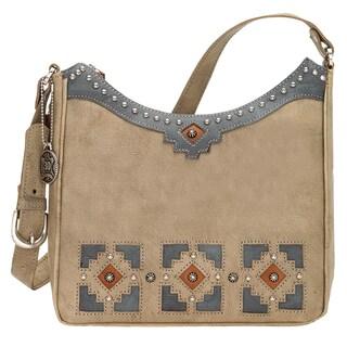 American West Annies Secret Concealed Carry Beige Shoulder Bag