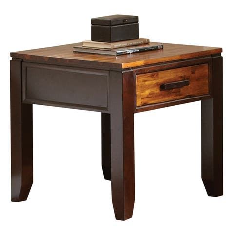 Greyson Living Two-tone Acacia End Table