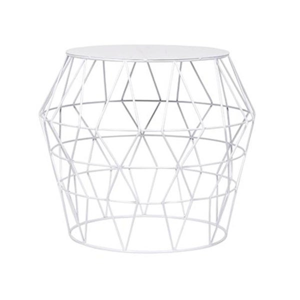 White Metal Drum Stool Free Shipping Today Overstock