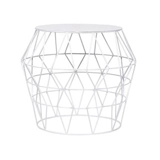 White Metal Drum Stool