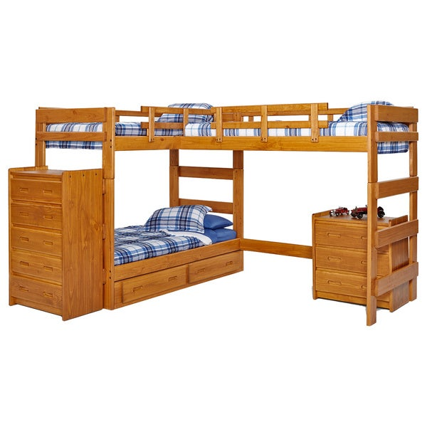 Woodcrest Heartland Collection Twin or Futon Bunk Bed with Extra Loft