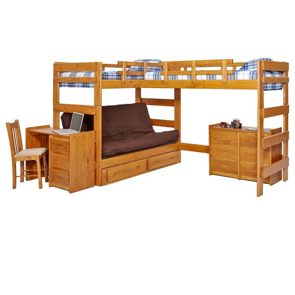 Shop Woodcrest Heartland Collection Twin or Futon Bunk Bed with ...