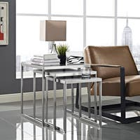 Rail Stainless Steel Nesting Tables