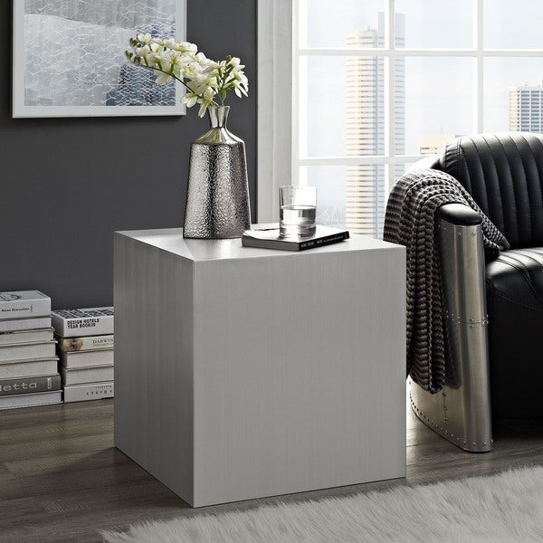 Shop Cast Stainless Steel Side Table On Sale Free