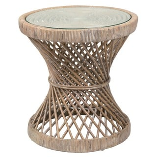 Crafted Home's Erin Round Rattan Side Table
