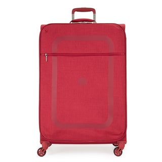 Delsey Dauphine Red 27.5-inch Spinner Upright Suitcase