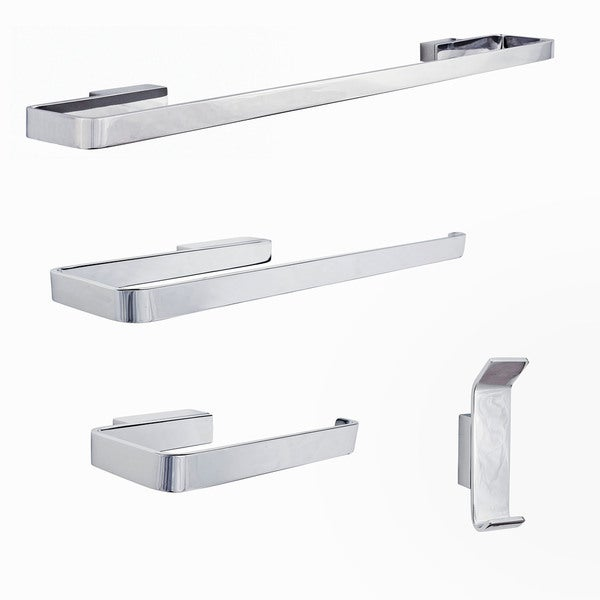 Sure-Loc Modern Polished Chrome 4-piece Bathroom Accessory Set