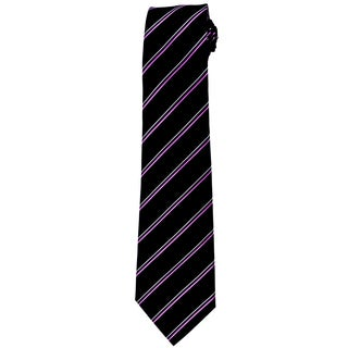 Davidoff 100-percent Silk Black/ Purple Stripe Neck Tie
