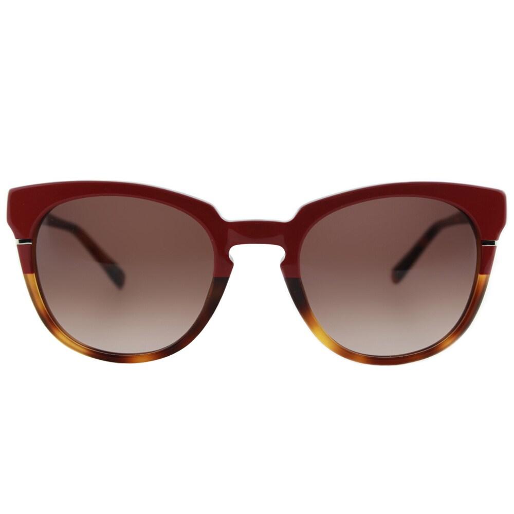 5e19c490a0 Cynthia Rowley Eyewear CR5027S No. 05 Red Tortoise Round Plastic Sunglasses