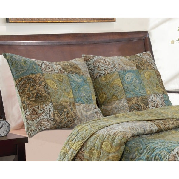 Greenland Home Fashions Vintage Paisley Sham Pair (Set of 2)
