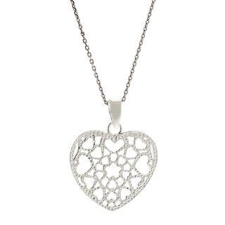 Pori Sterling Silver Heart of Hearts Pendant Necklace
