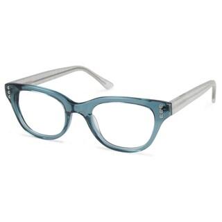 Cynthia Rowley Eyewear CR5020 No. 22 Teal Fade Round Plastic Eyeglasses