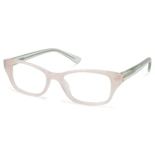 614a7a61e1 Shop Cynthia Rowley Eyewear CR5019 No. 91 Blush Round Plastic Eyeglasses -  Free Shipping Today - Overstock.com - 11207138