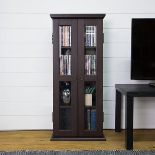 41-inch Espresso Wood Media Cabinet