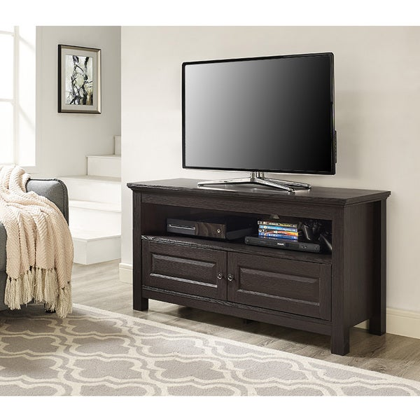 44-inch Espresso Wood TV Stand Console