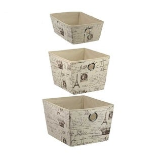 The Paris Collection By Home Basics Non-Woven 3-Piece Storage Boxes