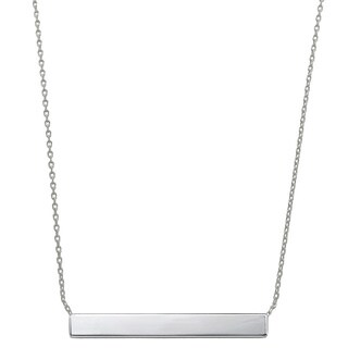 Eternally Haute Rhodium-plated Minimalist Bar Necklace