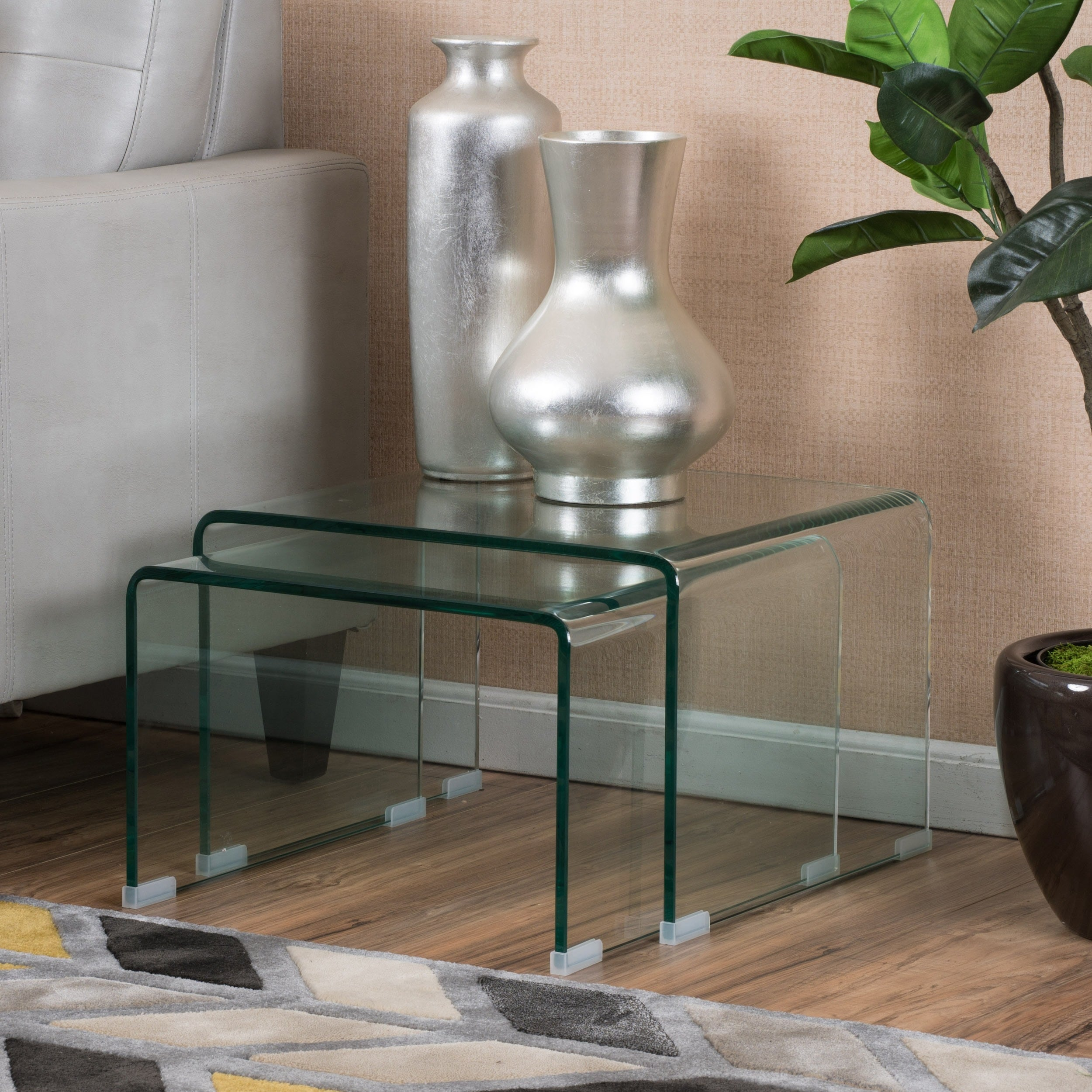 Ramona Glass Accent Nesting Tables (Set of 2) by Christop...
