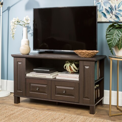 44-inch Espresso Wood TV Stand Storage Console