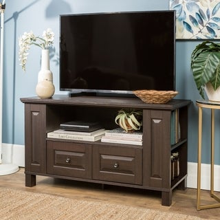 44-inch Espresso Wood TV Stand Storage Console