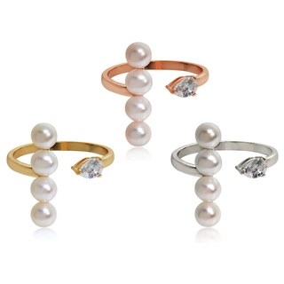 Eternally Haute Freshwater Pearl Pear Ring
