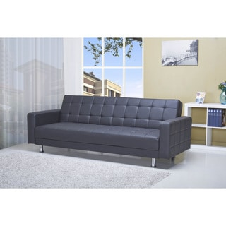 Frankfort Black Convertible Sofa Bed