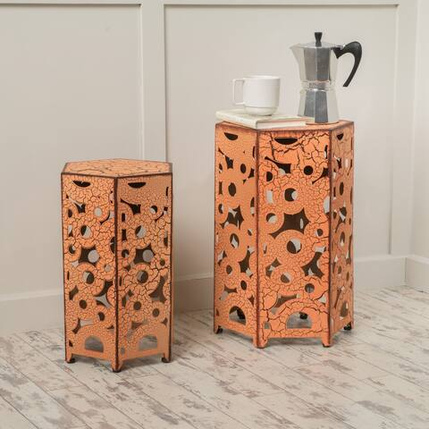 Parrish Outdoor Antique Side Table by Christopher Knight Home (Set of 2)