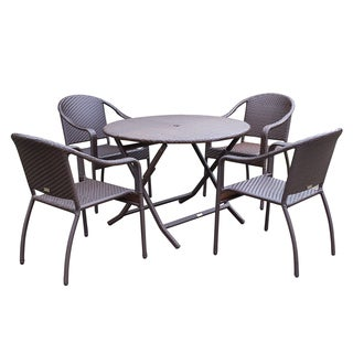 Wicker Cafe 5-piece Dining Set