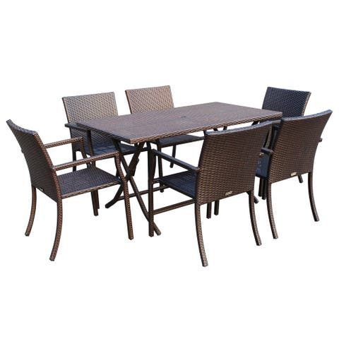 7-piece Resin Wicker Dining Set