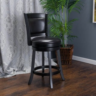 Mallik 37-inch Bonded Leather Swivel Backed Counter Stool by Christopher Knight Home