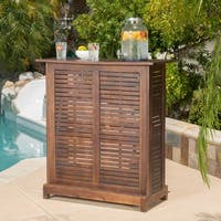 Riviera Outdoor Wood Bar Table (ONLY) by Christopher Knight Home