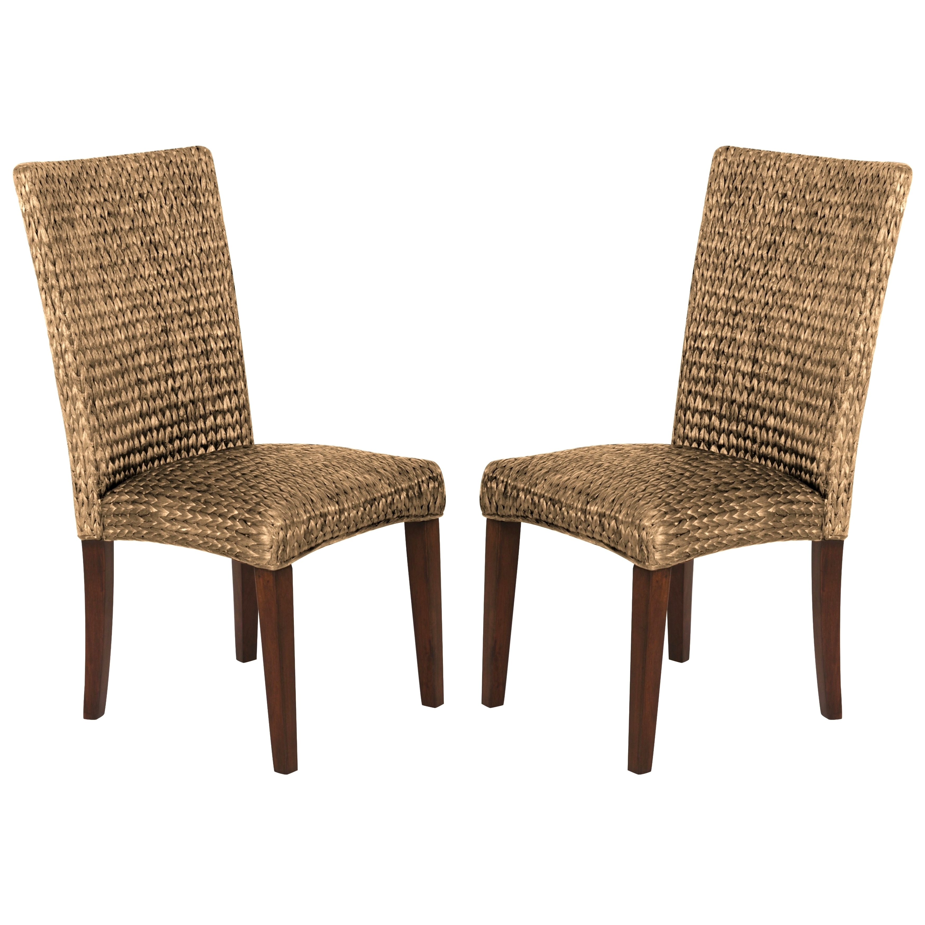 Montgomery Rattan Woven Natural Dining Chairs (Set of 2) ...