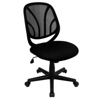 Romeo Black Armless Mesh Swivel Adjustable Office Chair