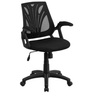 Kai Black Swivel Adjustable Office Chair with Mesh Padded Seat