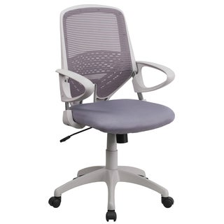 Zab Grey Mesh Adjustable Swivel Office Chair