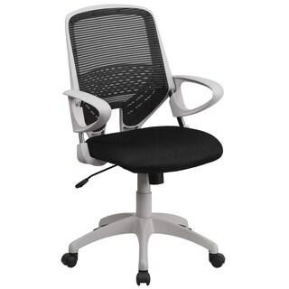 Zab Black Mesh Adjustable Swivel Office Chair
