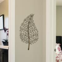 Stratton Home Decor Ornate Leaf Wall Decor