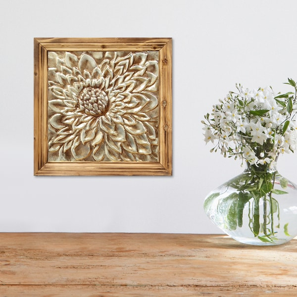 Https Www Overstock Com Home Garden Stratton Home Decor Mixed Material Floral Medallion Wall Decor 11209777 Product Html