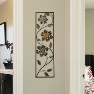 Stratton Home Decor Winding Flowers Wall Decor