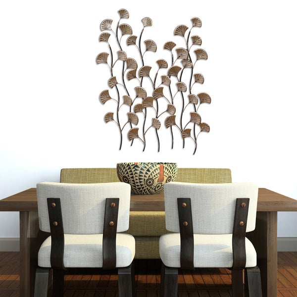 Stratton home decor bronze ocean blossoms wall decor for Ocean home decor